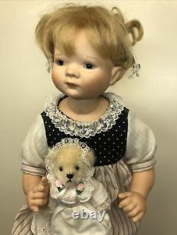 11 Artist Doll Porcelain & Cloth Marie By Gaby Scholtz #125 Sweet Blond Girl #L