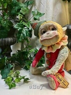 11 Munkee Shines Gino New 2020 Release By Beardsley Bears / Harlequin Monkey
