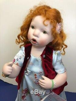 15 OOAK Artist Doll Porcelain One Of Kind Fanny Verena Eising Red Head With Tag