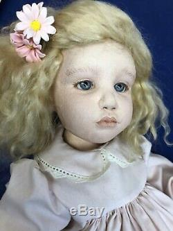 17 OOAK Artist Doll Cloth & Oil Paint Limited Page By Kate Lackman Blonde