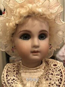 1985 14 1/2 JUMEAU French Bisque Head Doll by Doll artist Lynda and Alan Marx