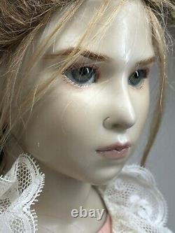 27 Artist Made Doll By Brigitte Deval Virginia 57/250 Wax Over Porcelain Girl S