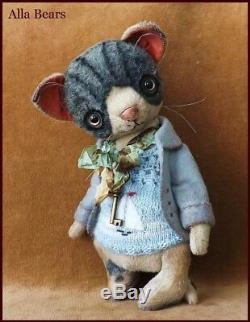 7.5 Alla Bears artist art doll OOAK cat decor Japan Anime pet