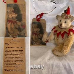 8.6 (22cm) Mohair Artist Teddy Bear- Julius- by Nataliya Kholodenko- OOAK