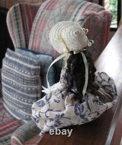 9 Queen Anne Inspired Hand Carved Wood OOAK Art Doll by Hitty Artists A&H