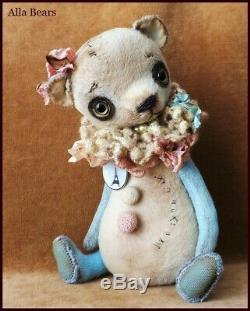 Alla Bears PARIS artist Antique Teddy bear garden fairy tale book