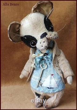 Alla Bears artist OOAK Antique Puppy art bjd doll friend boy pet decor toy Japan