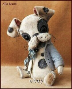 Alla Bears artist OOAK Boston Terrier Antique art doll dog pet toy