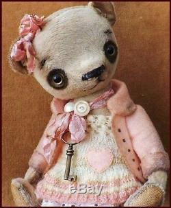 Alla Bears artist Old Teddy bear doll heart love toy home decor
