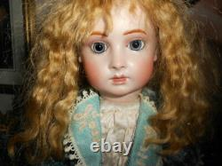 Antique Reproduction French Halopeau Artist Bisque Doll