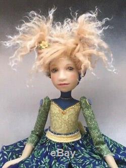 Artist Doll Blond Hair Gold Shoes OOAK