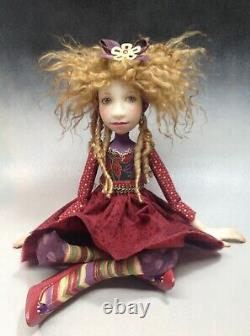 Artist Doll By Dianne Adam Blond Hair Dreads Freckles Red Shoes OOAK