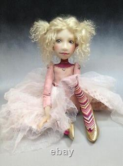 Artist Doll By Dianne Adam Blond Hair Freckles Gold Shoes OOAK