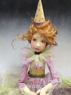 Artist Doll By Dianne Adam Clown Red Hair Freckles Gold Shoes OOAK