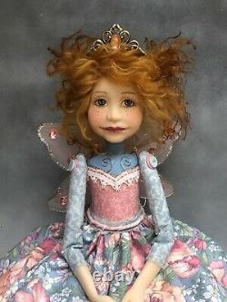 Artist Doll By Dianne Adam Fairy Princess Red Hair Freckles Gold Shoes OOAK