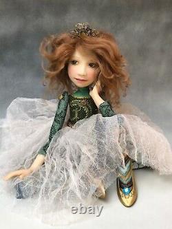 Artist Doll By Dianne Adam Princess Crown Gold Shoes OOAK