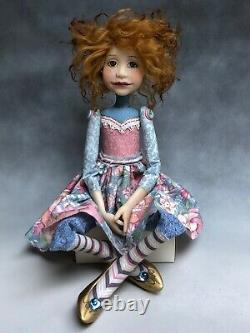 Artist Doll By Dianne Adam Red Hair Freckles Gold Shoes OOAK