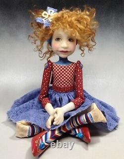 Artist Doll By Dianne Adam Red Hair Freckles Red Shoes OOAK