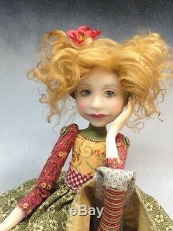 Artist Doll Golden Red Hair Gold Shoes OOAK