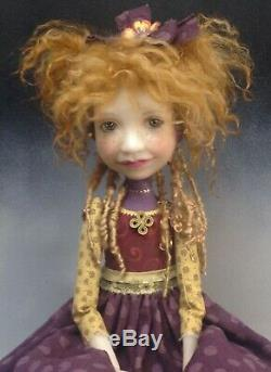 Artist Doll Red Hair Freckles Big Shoes OOAK