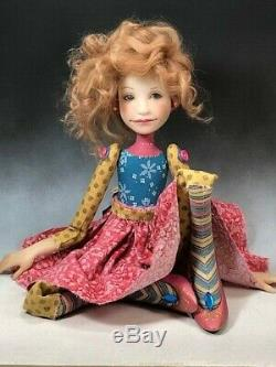 Artist Doll Strawberry Blond Hair Pink Shoes OOAK