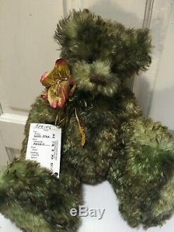 Artist Mohair Teddy Bears SPRING Air Brushed Green DIANA WATTS OOAK Vintage 15