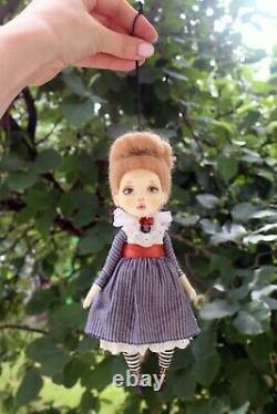 Artist OOAK doll pendant Sue