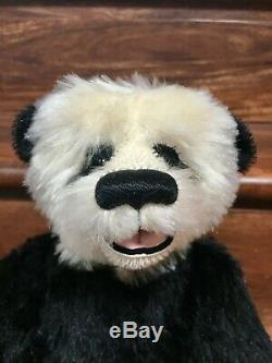 Artist PANDA Teddy Bears CLAUDIA WAGNER Mohair Open-Mouth Trapunto 14 LE/OOAK