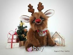 Artist Teddy bear Christmas Rudolph Reindeer