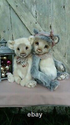 Aurora Coco and Clare Handmade bear Ooak collectors bear Artist Bear 21