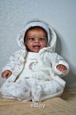 Baby reborn doll Yannik by Blick, realistic artist Olga Konovnina, cute babies