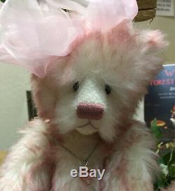 Beautiful Pink Tipped Mohair Handmade Artist Bear #1/1