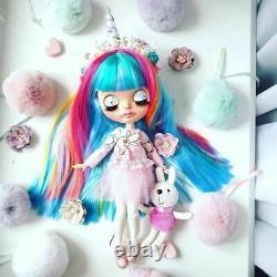 Blythe custom doll Unicorn OOAK Blythe artist doll by Milena. Blythe