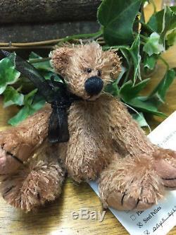 Brand New Handmade Mohair Artist Bear Shae