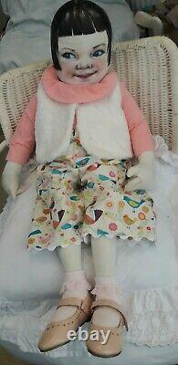 Cloth Artist doll, 30 OOAK, hand made LIFE LIKE CHILD DOLL, RARE, HAND PAINTED