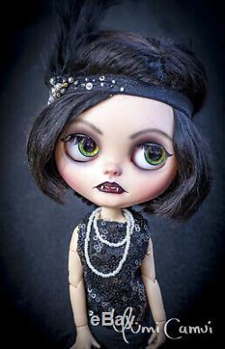 Custom Blythe Doll OOAK Blythe artist doll by Yumi Camui Greate Gatsby vampire