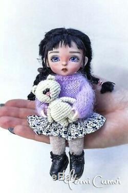 Custom Doll OOAK repaint Holala styled artist doll by Yumi Camui