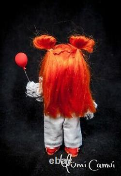 Custom Doll OOAK repaint Pennywise It Holala styled artist doll by Yumi Camui