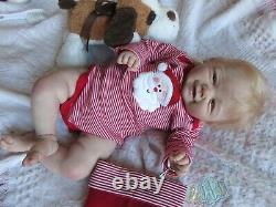 DARLING Reborn Baby BOY Doll VIVIENNE by SANDY FABER- Artist PARIS ALLEY