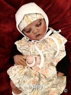 Dainty OOAK Twin B Reborn Art Doll COA/Bonnie Brown Artist Schröder Konaté