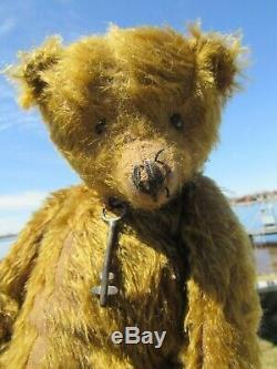 Distressed Mohair Teddy Bear Antique Key 15 Artist Mariel Prondzinski Ooak Tags