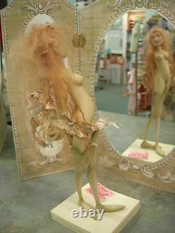 Dutch Artist Yvonne Flippse One of a Kind Papier Clay Fairy Superb Molding