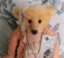 Fabulous 20 Golden Mohair Barricane Bear, OOAK Charlotte Parkham 2015