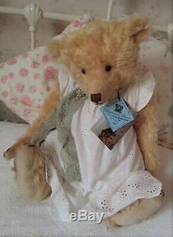 Fabulous 22 Gold Blonde Mohair Barricane Bear, OOAK Lucy Rackenford 2011