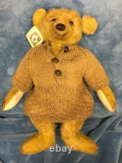 Forget Me Not Bears by Joy 16 Mohair Bear Jockton Dooly England NEW With Tag