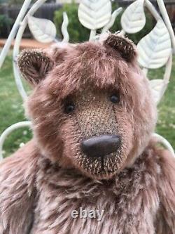 HTF Artist Mohair Teddy Bears HUXIE Brown Grizzly YVONNE GRAUBAEK Hovvigs Vntg