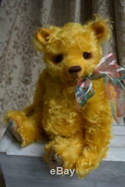 Hand made OOAK mohair artist bear'Summer' 15.25 L Shaw, Butterfly Bears