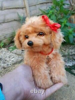 Handmade Realistic collectable toy, little puppy/dog, toy poodle, OOAK