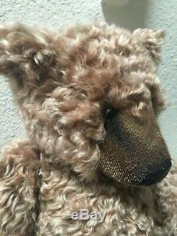 Handsome Artist Bears Teddy Bear Wavy Mohair Conradi Basil Braithwaite 20 OOAK