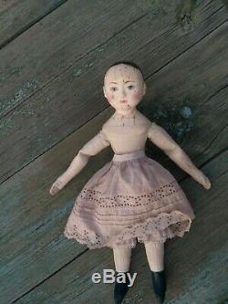 Izannah Walker artist doll, handmade doll, cloth doll, antique doll reproduction